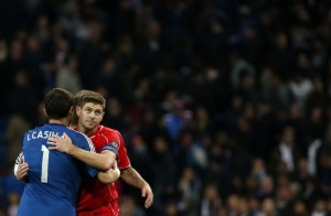 real-madrids-casillas-and-liverpools-gerrard-embrace-after-their-champions-league-group-b-soccer-match-at-santiago-bernabeu-stadium-in-madrid