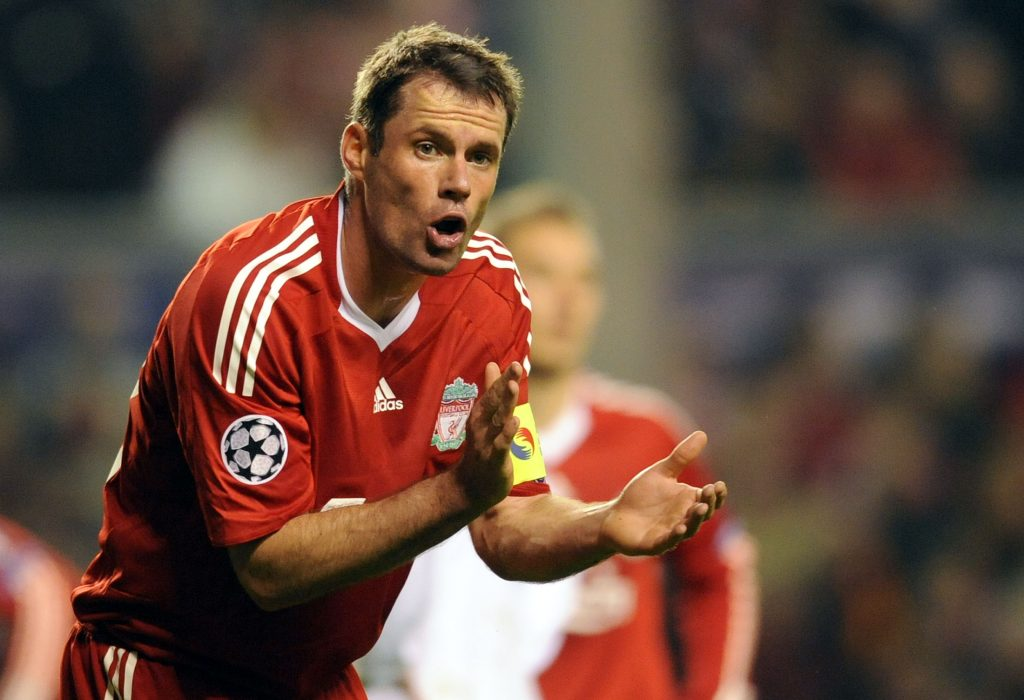 Liverpool's English defender Jamie Carra